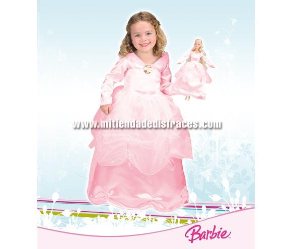 Disfraz de Barbie infantil + disfraz de muñeca. Disponible en varias tallas. Incluye vestido para la niña y vestido para la muñeca Barbie. Disfraz con licencia MATTEL perfecto como regalo. Disponible en color blanco o Rosa. Éste traje es perfecto para Carnaval y como regalo en Navidad, en Reyes Magos, para un Cumpleaños o en cualquier ocasión del año. Con éste disfraz harás un regalo diferente y que seguro que a los peques les encantará y hará que desarrollen su imaginación y que jueguen haciendo valer su fantasía.  ¡¡Compra tu disfraz para Carnaval o para regalar en Navidad o en Reyes Magos en nuestra tienda de disfraces, será divertido y quedarás muy bien!!