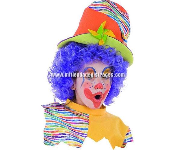 Peluca de Payaso rizada deluxe. Alta Calidad. Disponible en varios colores. Sombrero NO incluido, podrás encontrar en nuestra sección de Complementos.
