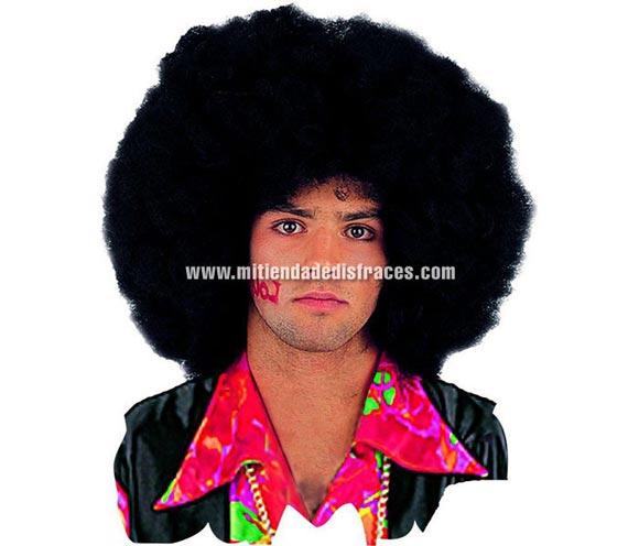 Peluca Afro Deluxe. Talla única. Alta Calidad. Disponible en varios colores. La talla única corresponde al color negro.