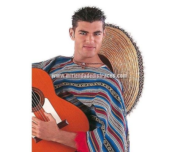 Poncho Mexicano deluxe. Alta calidad. Talla universal.