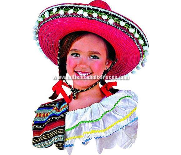 Sombrero Mexicano Infantil deluxe. Alta Calidad. Talla universal de niñ@.