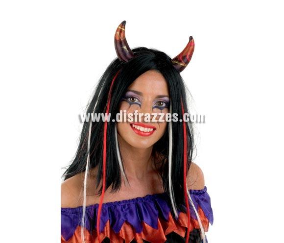 OFERTA LIQUIDACIÓN DE STOCK!!! Peluca de Diablesa para Halloween SUPER BARATA.