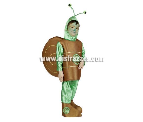 Disfraz de Caracol infantil para Carnaval. Disponible en varias tallas. Incluye disfraz completo con capucha y cubrepies. Alta calidad. Hecho en España.