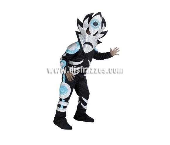 Disfraz de Alien Hielo infantil para Carnaval. Disponible en varias tallas. Alta calidad. Hecho en España.