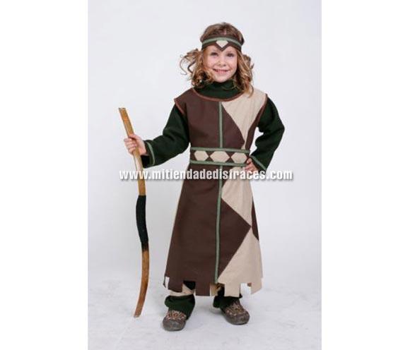 Disfraz de Arquera infantil. Alta calidad. Hecho en España. Disponible en varias tallas. Arco NO incluido.