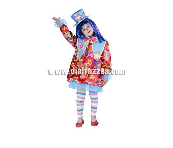 Disfraz de Payasita infantil para Carnaval. Varias tallas. Peluca NO incluida, podrás ver pelucas en la sección de Complementos de Carnaval. Alta calidad. Hecho en España.