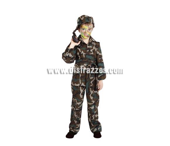 Disfraz de militar camuflaje infantil para Carnaval. Varias tallas. Alta calidad. Hecho en España.