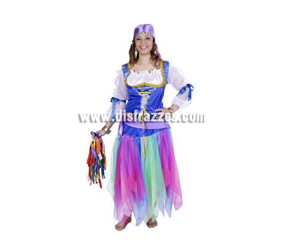 Disfraz de Zíngara adulta para Carnaval. Talla única 40/44. Accesorios NO incluidos. Buena calidad. Hecho en España.