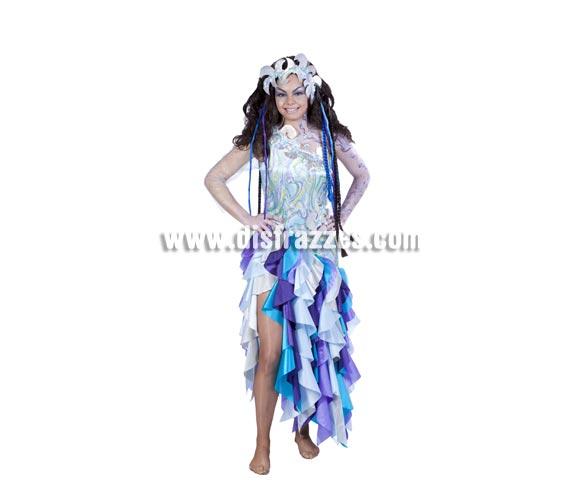 Disfraz de Sirena adulta especial para Carnaval. Talla única 40/44. Buena calidad. Hecho en España.