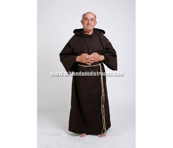 Disfraz de Monje Adulto. Alta calidad. Hecho en España. Incluye túnica y cordón.