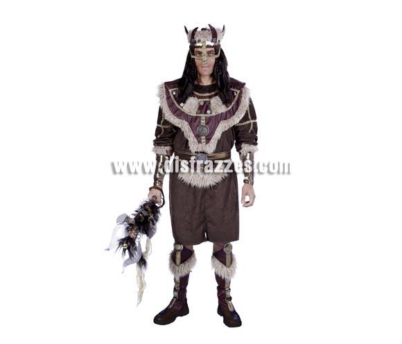 Disfraz de Vikingo adulto para Carnaval. Talla única 50. Accesorios NO incluidos. Buena calidad. Hecho en España.