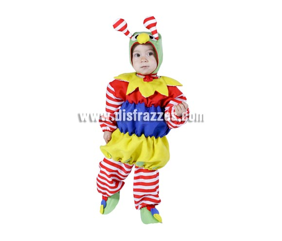 Disfraz barato de Gusano o Gusanito bebé para Carnaval. Talla de 18 meses. Incluye disfraz completo. Buena calidad. Hecho en España.