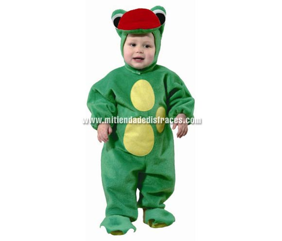 Disfraz de Ranita. Talla de 18 meses. Alta calidad. Hecho en España. Incluye mono y capucha.