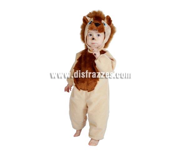 Disfraz barato de León bebé para Carnaval. Talla de 18 meses. Incluye mono y capucha con forma de león. Buena calidad. Hecho en España.