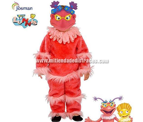 Disfraz de Lupita de los Lunnis infantil. Talla de 5 a 7 años. Incluye traje y careta. Disfraz con licencia ideal como regalo en Reyes y Papa Noel. Presentación en caja regalo.