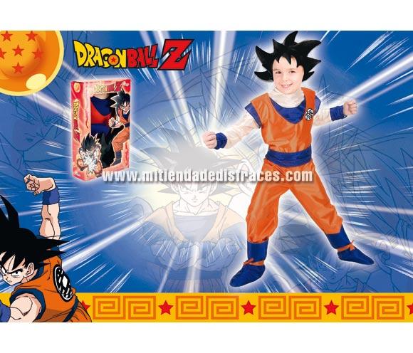 Disfraz de Son Goku Dragon Ball lujo infantil. Disponible en varias tallas. Incluye disfraz y peluca. Disfraz con licencia ideal como regalo en Navidad y Reyes Magos o en cualquier otra fecha del año. Presentación en caja regalo.