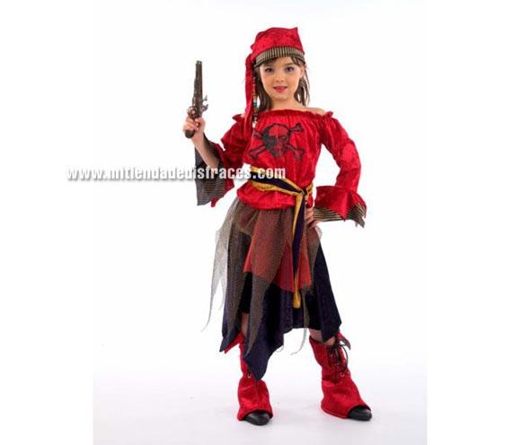 Disfraz barato de Pirata Corsaria niña (varias tallas)