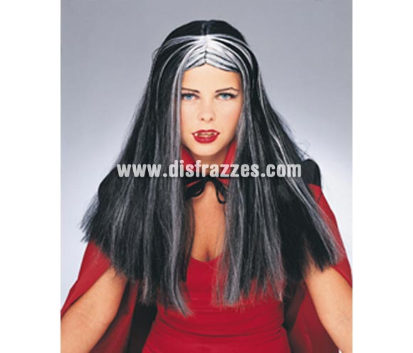Peluca de Bruja o también de Morticia especial para Halloween.