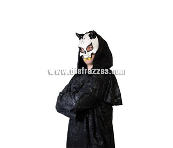 Máscara de Calavera con cuernos para Halloween. Máscara o Careta de Halloween.