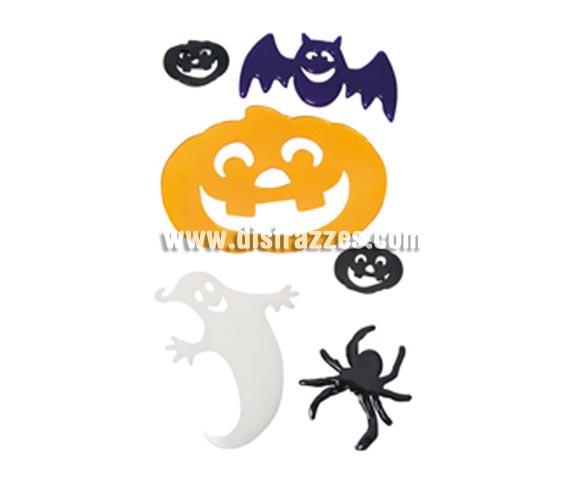 Blister Halloween Stickys para decorar en Hallwoeen.