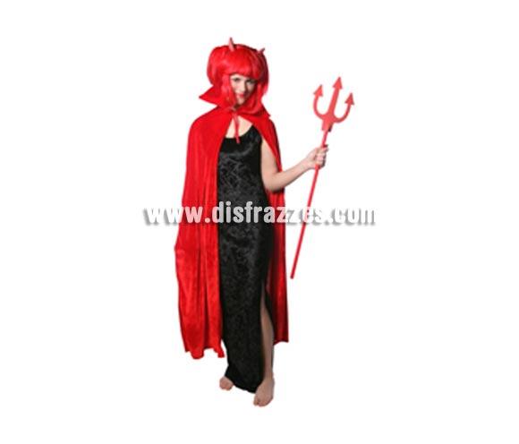 Capa de Terciopelo roja para Halloween.