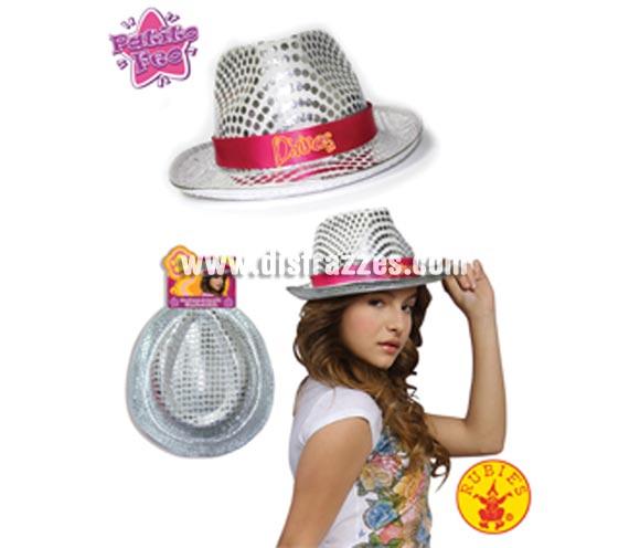 Sombrero plateado con lentejuelas Antonella de la Serie Patito Feo de Disney Channel. Ideal para regalar en Navidad y Reyes Magos.