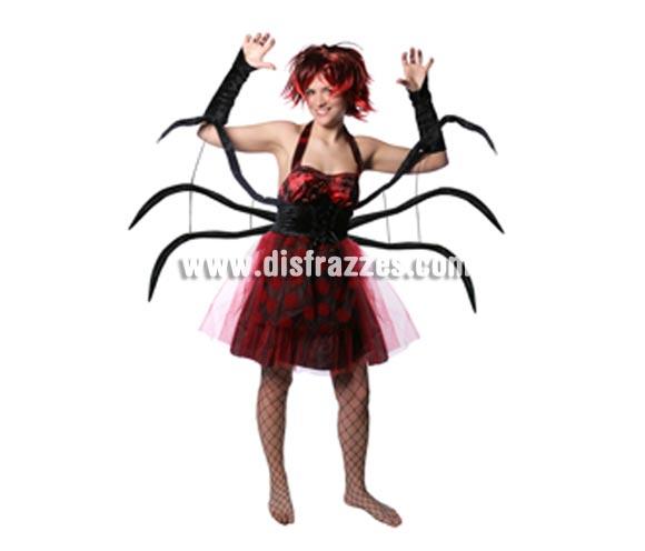 Disfraz de Spider Woman con patas adulta para Halloween. Talla estándar. Incluye vestido con patas de araña.