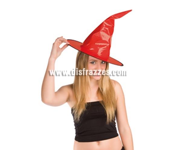 Sombrero de Bruja de charol rojo para Halloween.