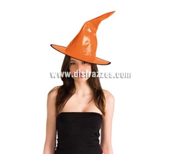 Sombrero de Bruja de charol naranja para Halloween.