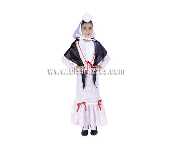 Disfraz de Chulapita infantil. Varias tallas. Buena calidad, hecho en España. Flor NO incluida. Alta calidad. Hecho en España.