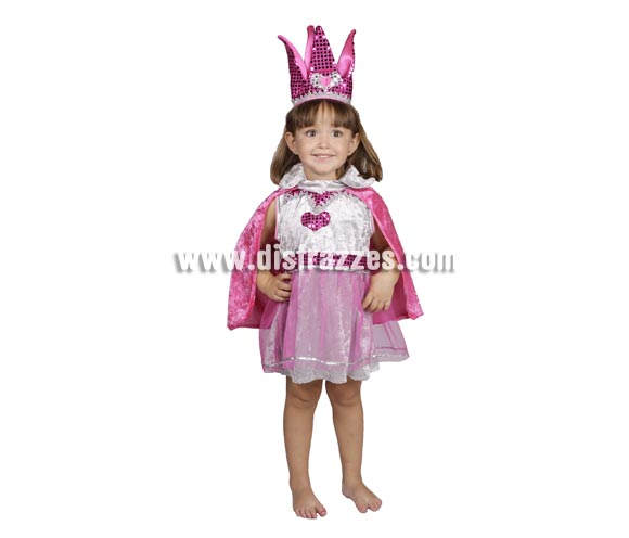 Disfraz de Princesa Fantasía infantil para Carnaval o para regalar en Navidad. Varias tallas. Buena calidad, hecho en España.
