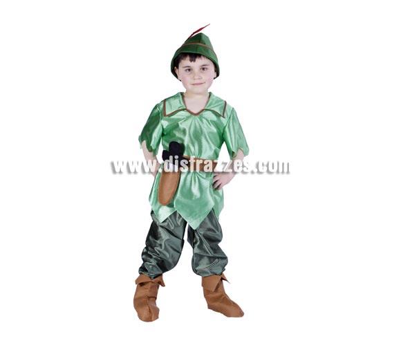 Disfraz barato de Robin Hood infantil para Carnaval. Varias tallas. Buena calidad. Hecho en España.