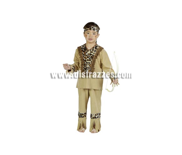 Disfraz barato de Indio infantil para Carnaval. Varias tallas. Arco NO incluido. Buena calidad. Hecho en España.