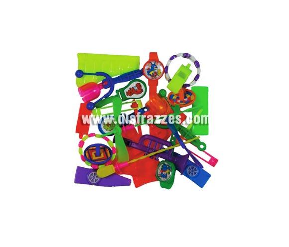 Bolsa 24 juguetes baratijas para relleno de Piñatas. Especial para Fiestas de Cumpleaños.