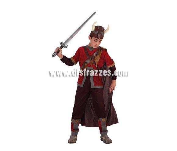 Disfraz de Vikingo para niños de 7 a 9 años. Espada NO incluida, podrás verla en la sección de Complementos.