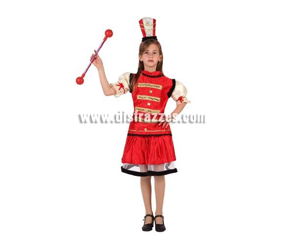 Disfraz de Domadora o Majorette para niñas de 5 a 6 años. Incluye falda, camisa y gorro. Varita NO incluida.