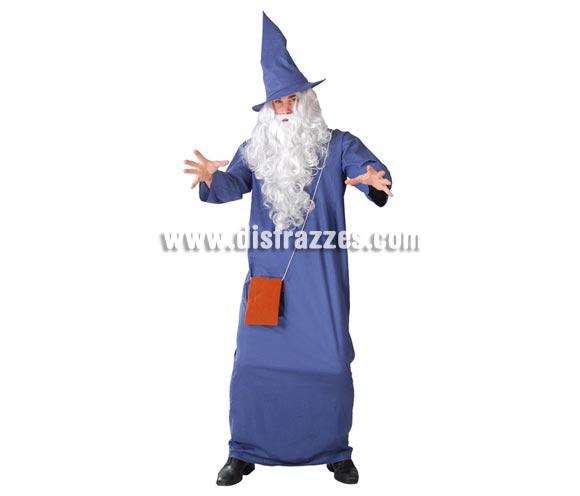 Disfraz de Mago o Brujo para hombre. Talla standar 52/54. Incluye sombrero túnica y bolso. Peluca y Barba NO incluidas, podrás verlas en la sección de Complementos. Un disfraz ideal para disfrazarte de Gandalf en Carnaval o Halloween.