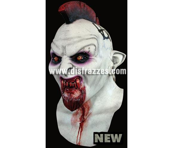Máscara de Mohawk látex. Alta calidad. Fabricada en látex artesanalmente por una empresa que hace efectos especiales para películas de Hollywood. Máscara de cabeza entera. Máscara de Vampiro Mohicano.