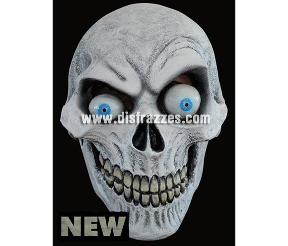 Máscara Bone Head de látex. Alta calidad. Fabricada en látex artesanalmente por una empresa que hace efectos especiales para Hollywood. Máscara de cabeza entera. Máscara de Calavera divertida.