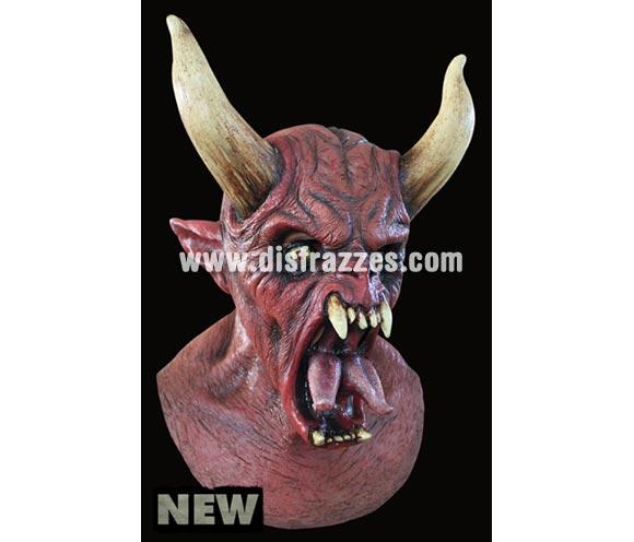 Máscara Molock de látex. Alta calidad. Fabricada en látex artesanalmente por una empresa que hace efectos especiales para Hollywood. Máscara de cabeza entera. Máscara de Diablo o Demonio con cuernos.