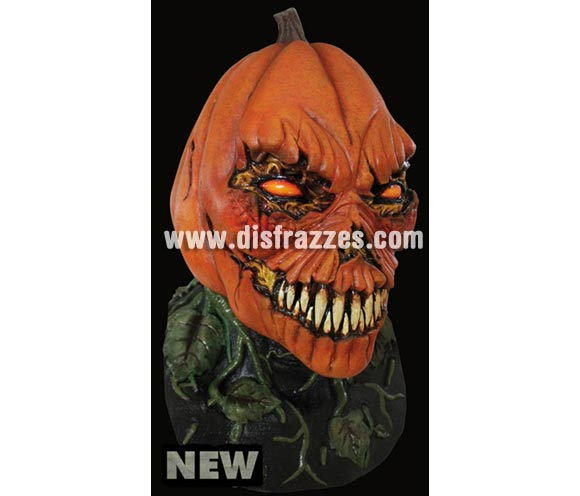 Máscara Possesed Pumpkin de látex. Alta calidad. Fabricada en látex artesanalmente por una empresa que hace efectos especiales para Hollywood. Máscara de cabeza entera. Máscara de Calabaza poseída para la noche de Halloween.