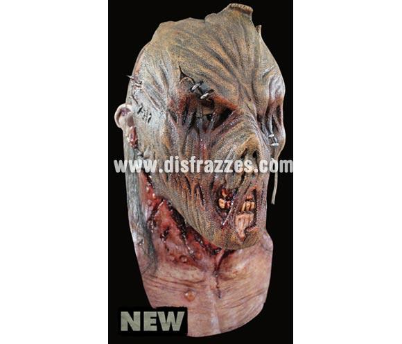 Máscara Zombie Scarecrow de látex. Alta calidad. Fabricada en látex artesanalmente por una empresa que hace efectos especiales para Hollywood. Máscara de cabeza entera. Máscara de Zombie Espantapájaros.