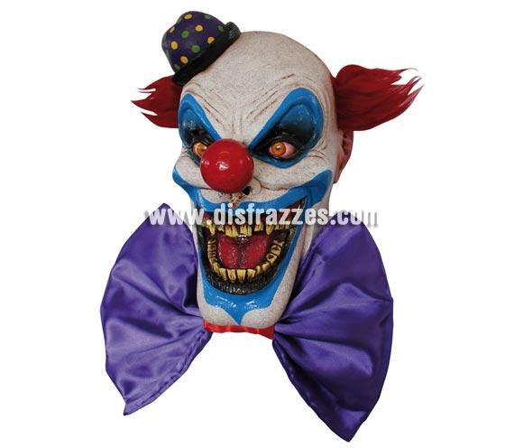Máscara Chompo the Clown de látex. Alta calidad. Fabricada en látex artesanalmente por una empresa que hace efectos especiales para Hollywood. Máscara de cabeza entera. Máscara de Chompo el Payaso.