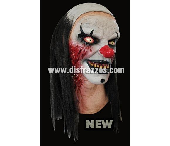 Máscara Pierrot the Clown de látex. Alta calidad. Fabricada en látex artesanalmente por una empresa que hace efectos especiales para Hollywood. Máscara de cabeza entera. Máscara de Payaso Pierrot para Halloween.