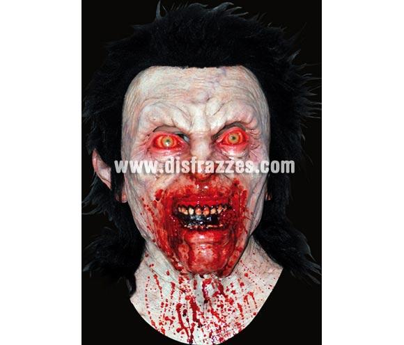 Máscara Bloody Anger de látex. Alta calidad. Fabricada en látex artesanalmente por una empresa que hace efectos especiales para Hollywood. Máscara de cabeza entera. Máscara de Zombie poseido por una ira sangrienta.