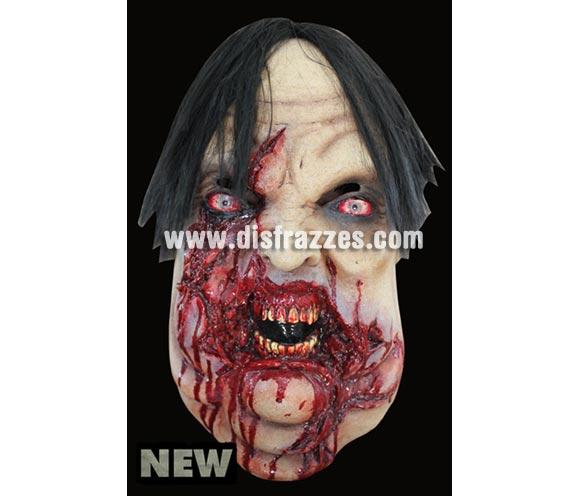 Máscara Butcher de latex. Alta calidad. Fabricada en látex artesanalmente por una empresa que hace efectos especiales para Hollywood. Máscara de cabeza entera. Máscara de Carnicero Zombie de latex para Halloween.