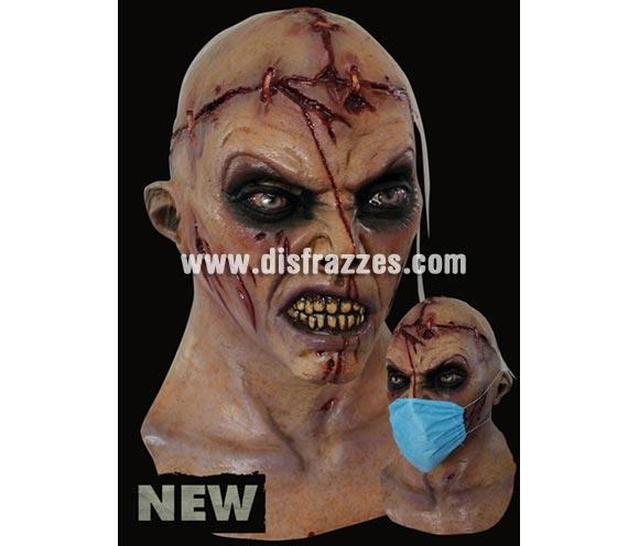 Máscara de Doctor Zombie de latex. Alta calidad. Fabricada en látex artesanalmente por una empresa que hace efectos especiales para Hollywood. Máscara de cabeza entera.