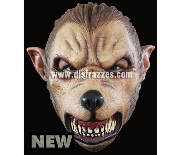 Máscara New Wolf de latex. Alta calidad. Fabricada en látex artesanalmente por una empresa que hace efectos especiales para Hollywood. Máscara de nuevo Hombre Lobo de latex para Halloween.