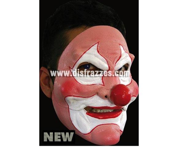 Máscara Pink Clown de latex. Alta calidad. Fabricada en látex artesanalmente por una empresa que hace efectos especiales para Hollywood. Máscara de Payaso Rosa de latex para Halloween. La boca se mueve cuando hablas.