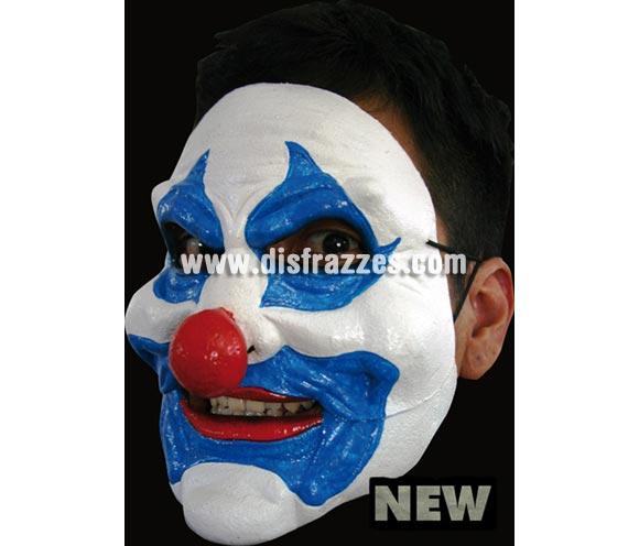 Máscara Blue Clown de latex. Alta calidad. Fabricada en látex artesanalmente por una empresa que hace efectos especiales para Hollywood. Máscara de Payaso azul de latex para Halloween. La boca se mueve cuando hablas.